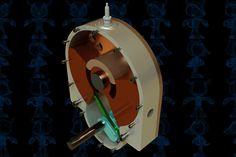 Circular Piston Engine - STEP / IGES,SOLIDWORKS,AutoCAD,Parasolid - 3D CAD model - GrabCAD