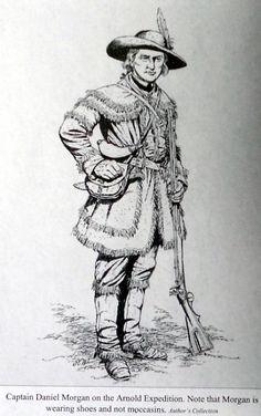 Captain Daniel Morgan during the American Revolution.