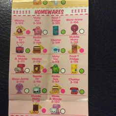 As Season 3 comes to a close soon, how many do you have so far? Below you will find the complete season 3 collectors guide checklist. Season 3 Shopkins are expected to stay . Shopkins List, Shopkins Season 3, New Shopkins, Shopkins Room, Accessoires Barbie, New Energy, Easy Diy Crafts, Tv On The Radio, Toy Boxes