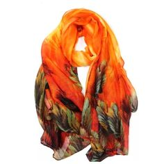"""B11 Bold Watercolor Leaf Orange Green Coral Scarf ‼️ PRICE FIRM UNLESS BUNDLED WITH OTHER ITEMS FROM MY CLOSET ‼️   Retail $79  GORGEOUS SCARF!!!! 100% viscose. Such beautiful bright colors!  39"""" wide, 70"""" long.  Please check my closet for many more items including jewelry, shoes, handbags designer clothing & more! Boutique Accessories Scarves & Wraps"""