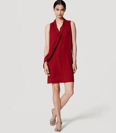 Image of Petite Tie Neck Dress