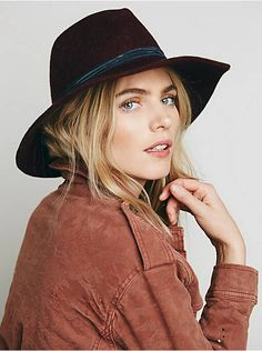 Free People Wrapped Leather Band Hat, $58.00