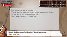 Please Mr. Postman - The Beatles / The Marvelettes Bass Backing Track wi...