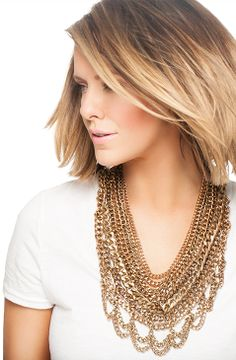 Courtney Kerr - Guest Bartender - Shop Jewelry | BaubleBar OBSESSED with this bib necklace!