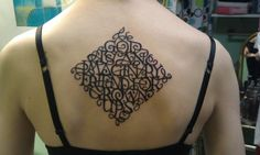 Gorgeous tattoo; calligraphy; message et al. Perfect!