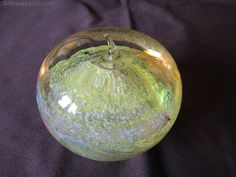 Antiques Atlas - Caithness Glass Yellow Apple By Colin Terris Caithness Glass, Yellow Apple, Glass Company, Glass Paperweights, Apple Products, Antique Glass, Paper Weights, Glass Art, Christmas Bulbs
