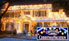 National Lampoon's Christmas Vacation house in lights... and movie tour
