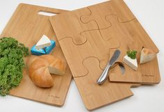 The Puzzle Cutting Board Separates Into Serving Trays - Foodista.com