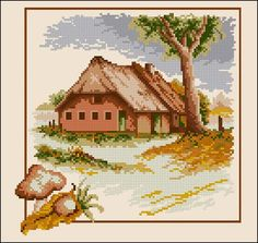 "Free cross-stitch pattern ""Seasons- Autumn"" 