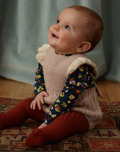 Misha and Puff Ruffle Romper in Dune Misha And Puff, Ruffle Romper, Garter Stitch, Cap Sleeves, Hand Knitting, Merino Wool, Cute Babies, Rompers, Lady