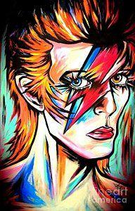 David Bowie Painting - Ziggy Stardust by Amy Belonio