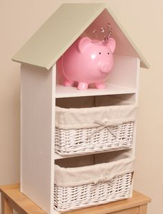 The Three Storied Dollhouse Shelf Offers Multi-Purpose Use for Your Kids