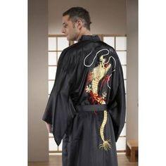 Japanese embroidered Dragon Kimono.