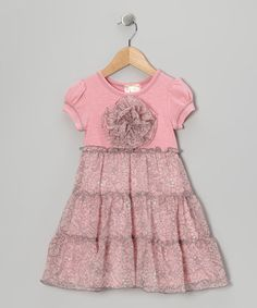 Take a look at this Pink & Gray Tiered Babydoll Dress - Toddler & Girls by Pink Vanilla on #zulily today!
