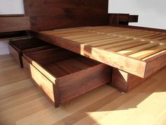 Platform Bed With Drawers   Contemporary   Beds   Toronto   Akroyd Furniture