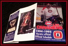 1994-95 MONTREAL CANADIANS MOLSON EXPORT HOCKEY POCKET SCHEDULE FREE SHIPPING #Pocket #Schedule