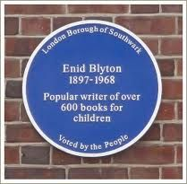 Learned something new about where I grew up 1965-1980:  Plaque on the house in Lordship Lane where Enid Blyton once lived. Sally went to look at the plaque when investigating Valerie's murder took her to East Dulwich (To All Appearance, Dead).