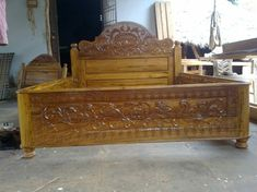 Wood Bed Design, Cots, Wood Beds, Hope Chest, Storage Chest, Carving, Bed Frame, Furniture, Home Decor