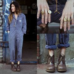 Martens Viviana Desert Boot, N/A Vintage Coveralls, Witness Company Badass Biker Rings Biker Rings, Moto Style, Desert Boots, Dr. Martens, Spring Summer Fashion, Badass, What To Wear, Style Inspiration, Stylish