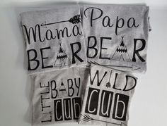 Set of 5 or 6  family cub shirts bear cub by luvolthings on Etsy