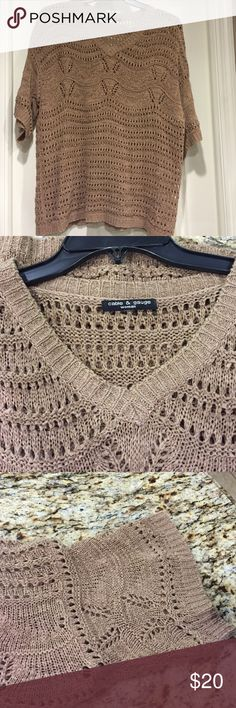Cable & Gauge Woman sweater Beautiful color!!! Perfect condition!!!!  No snags or picks ❤️❤️ Cable & Gauge Sweaters V-Necks