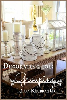 decorating 101 grouping like elements stonegable home decor accessories