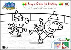 Little piggies will love colouring in Peppa Pig and her friend in this wintery scene!   Head over to our blog to download the image now: http://theladybirdblog.typepad.com/