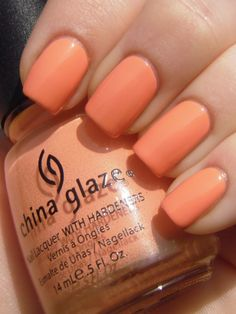 this just came in the mail for me the other day. I am so excited to use it! china glaze peachy keen
