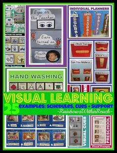 Lehmann VISUAL Learning: Cues, Supports and Systems used in Preschool thru Elementary for Visual Learners and Children with Special Needs Autism Classroom, Preschool Classroom, Future Classroom, In Kindergarten, Preschool Activities, Classroom Ideas, Classroom Discipline, Preschool Centers, Classroom Design