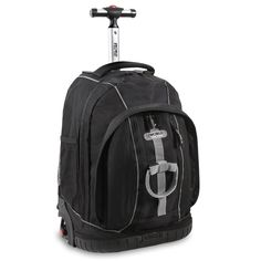 J World New York Twinkle Light Up Wheel Rolling Backpack ** More info could be found at the image url.