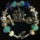 Authentic Pandora with European charms, Charm Bracelet,Sterling Silver