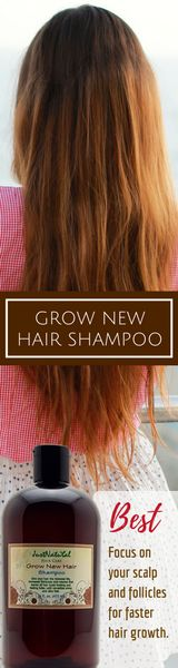 The Grow New Hair Shampoo helps fortify and replenish your scalp and follicles for faster, stronger and longer hair growth. Are you experiencing hair loss, thinning hair, or see patchy bald spots in certain areas of your scalp? These types of hair loss issues can be caused by a variety of issues that may include stress, damage from chemical service products, improper hair styling, build up and diet.