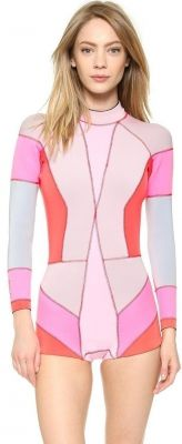 Cynthia Rowley Colorblock Wetsuit Pink Combo 2015