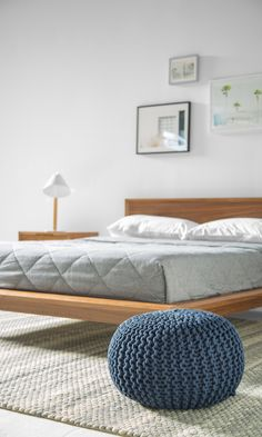 Let yourself rest happily in the bedroom of your dreams. Shop the look for your very own modern contemporary bedroom. Dream Bedroom, Home Bedroom, Bedroom Decor, Master Bedroom, Modern Bedroom Furniture, Contemporary Bedroom, Modern Contemporary, Mid Century Bedroom, Home And Deco