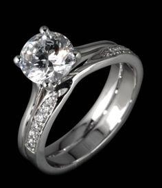 Engagement and Wedding Ring set by www.diamondsandrings.co.uk