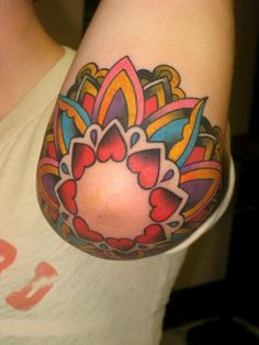 girly elbow tattoo