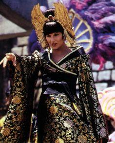 Xena the Warrior Princess as a black-clad Dragon Lady