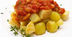 Gebackene Kartoffeln mit Tomaten