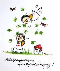 Glücksengel - New Ideas Shadow Painting, Rock Painting, Happy Paintings, Happy Birthday Greetings, Guardian Angels, Good Mood, Little Princess, Happy Life, Disneyland
