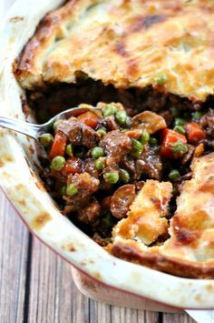 The filling in this Beef Pot Pie is guaranteed to create the best, most deep-flavored pot pie you've ever tasted. The ultimate comfort food meal.
