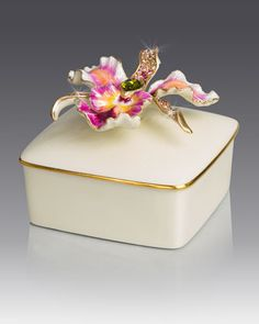 Orchid+Porcelain+Box+by+Jay+Strongwater+at+Neiman+Marcus.