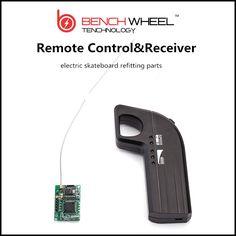Electric skateboard refitting parts   DIY 800MAH  remote  & receiver  2.4G bench technology  benchwheel