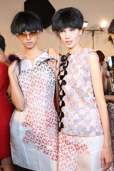 Backstage at Fendi RTW Spring 2014 [Photo by Delphine Achard]
