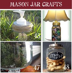 Mason Jar Lights 40 Last Minute Christmas Gift Ideas! 48 crafts with mason jars. Mason Jars, Pot Mason, Canning Jars, Bottles And Jars, Glass Jars, Mason Jar Projects, Mason Jar Crafts, Cute Crafts, Crafts To Make