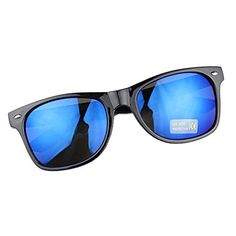 Dcolor Wayfarer Mens Womens Classic Mirror Sunglasses Vintage Retro Aviator-black box orchid reflective