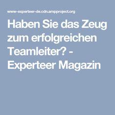 Haben Sie das Zeug zum erfolgreichen Teamleiter? - Experteer Magazin