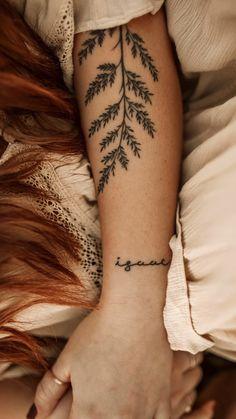 Fern Tattoo, Vine Tattoos, Wrist Tattoos, Body Art Tattoos, Sleeve Tattoos, Inside Arm Tattoos, Memory Tattoos, Back Of Arm Tattoo, Nature Tattoos