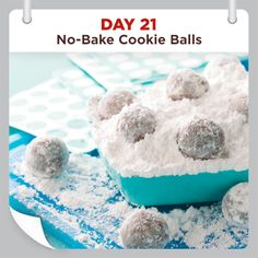 25 Days of Christmas Cheer :: Day 21 :: No-Bake Cookie Balls
