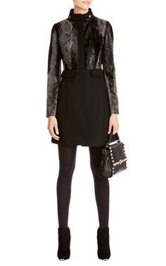 A great coat from Karen Millen - the masculine signature pony coat. I love the mixed media and the structured, tailored finish.