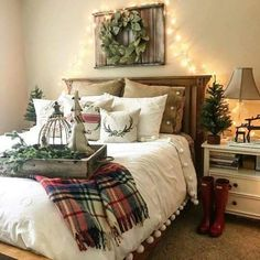 Would be cute to hang wreath from window with curtains